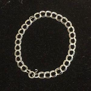 """Jewelry - 925 Sterling silver chain link bracelet 7.25"""""""